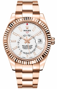 Rolex Sky-Dweller White Dial Men's Watch 326935