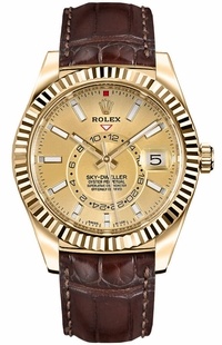 Rolex Sky-Dweller Yellow Gold Men's Watch 326138-0006