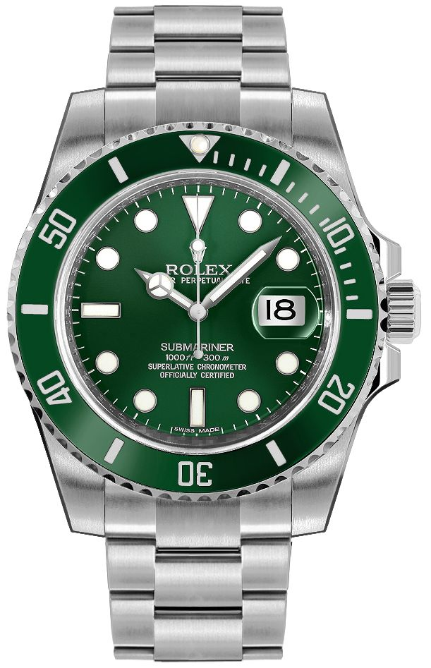 116610lv rolex submariner men 39 s date watch On submariner rolex green