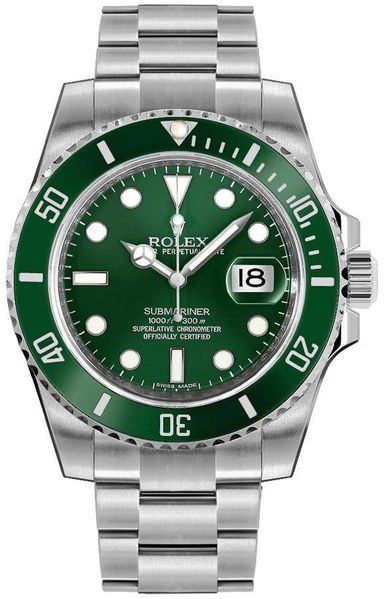 Rolex Submariner Date Hulk Oystersteel Men's Watch 116610LV-0002