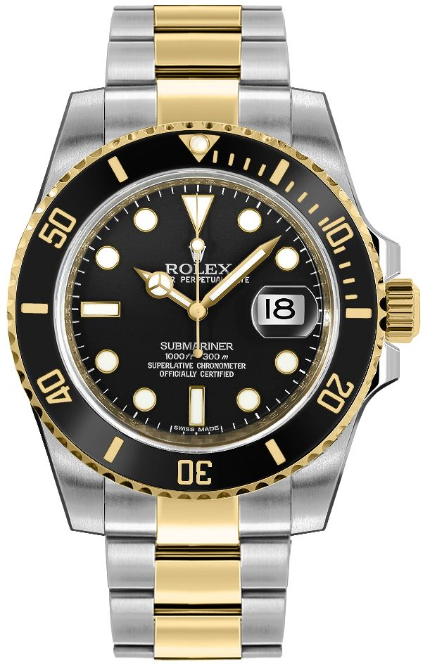 b4ec9ea71d7be 116613LN Rolex Submariner Black Dial with Black Ceramic Bezel Mens ...