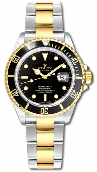 Rolex Submariner Date Two Tone Men's Watch 16613LN
