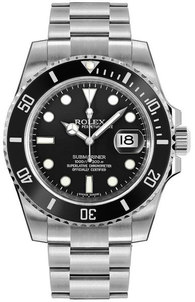 Rolex Submariner Date Black Dial Men's Watch 116610LN