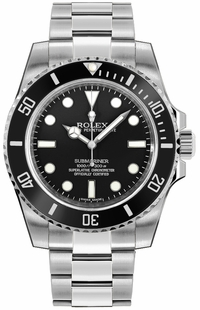 Rolex Submariner Men's Luxury Diver Watch Black Dial 114060