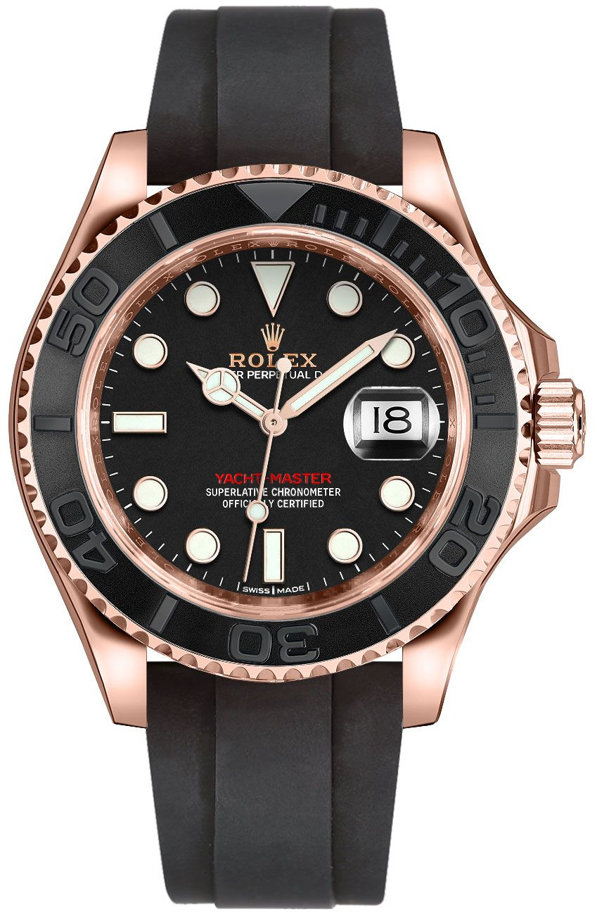 Rolex Yacht-Master 116655 Mens 40mm Automatic Everose Gold ...