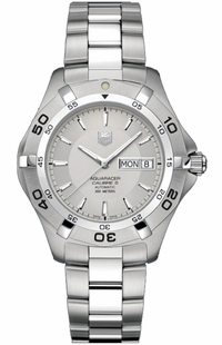 Tag Heuer Aquaracer 2000 Day Date Silver Dial Men's Watch WAF2011.BA0818