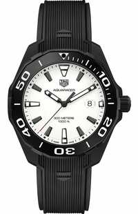 Tag Heuer Aquaracer 300M Textured White Dial Men's Watch WAY108A.FT6141