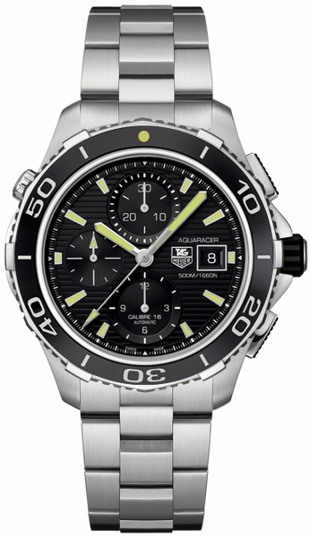 Tag Heuer Aquaracer Calibre 16 Black Dial Men's Watch CAK2111.BA0833