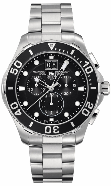 Tag Heuer Aquaracer Chronograph Black Dial Men's Watch CAN1010.BA0821