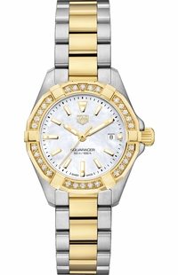 Tag Heuer Aquaracer Save Gold & Diamond Ladies Watch WBD1421.BB0321