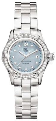 Tag Heuer Aquaracer Blue Pearl & Diamond Dial Women's Watch WAF141J.BA0824