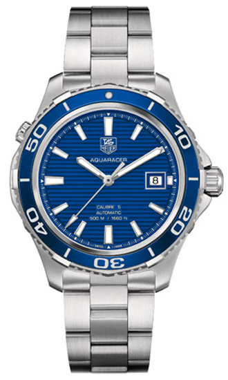 Tag Heuer Aquaracer 41mm Blue Dial Men's Watch WAK2111.BA0830