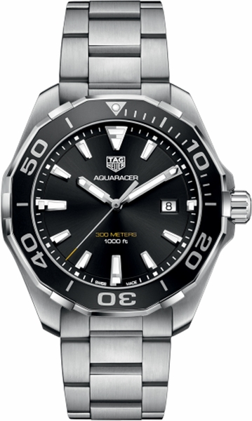 Tag Heuer Aquaracer 43mm Black Dial Men's Watch WAY101A.BA0746