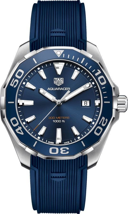 12a19ff3046 Tag Heuer Aquaracer Brushed Blue Dial Men's Watch WAY101C.