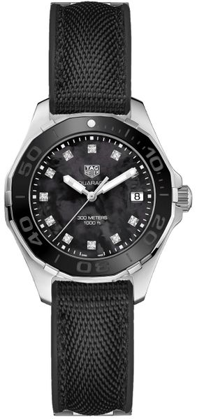 Tag Heuer Aquaracer Black Pearl & Diamond Ladies Dive Watch WAY131M.FT6092