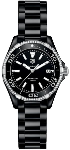 Tag Heuer Aquaracer Diamond Black Ceramic Women's Watch WAY1395.BH0716