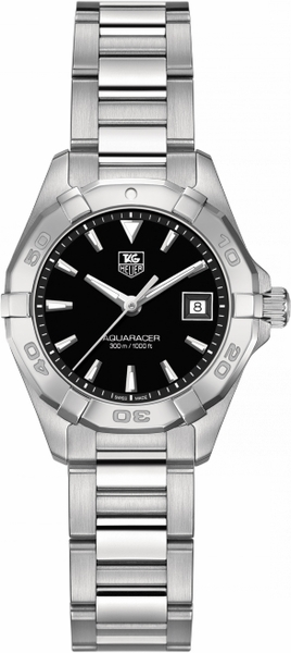 Tag Heuer Aquaracer Black Dial Stainless Ladies Watch WAY1410.BA0920