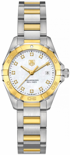 Tag Heuer Aquaracer Diamond Gold & Steel Ladies Watch WAY1451.BD0922