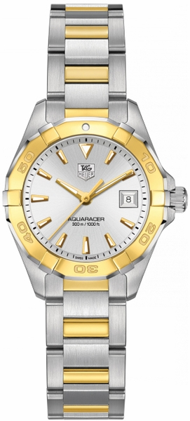 Tag Heuer Aquaracer Gold & Steel Ladies Luxury Watch WAY1455.BD0922
