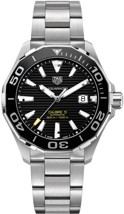 03cf06fd704 TAG Heuer Aquaracer WAY201A.BA0927 300m Calibre 5 Ceramic Bezel 43mm ...