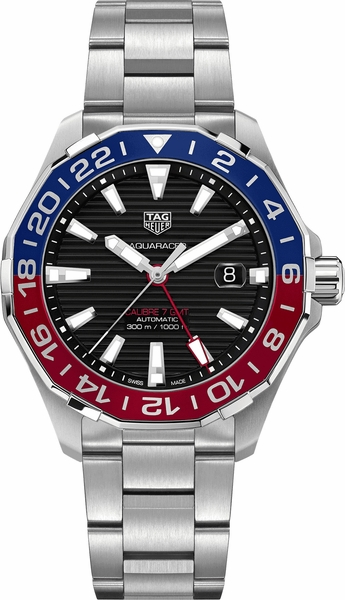 Tag Heuer Aquaracer Calibre 7 GMT New Men's Pepsi Watch WAY201F.BA0927