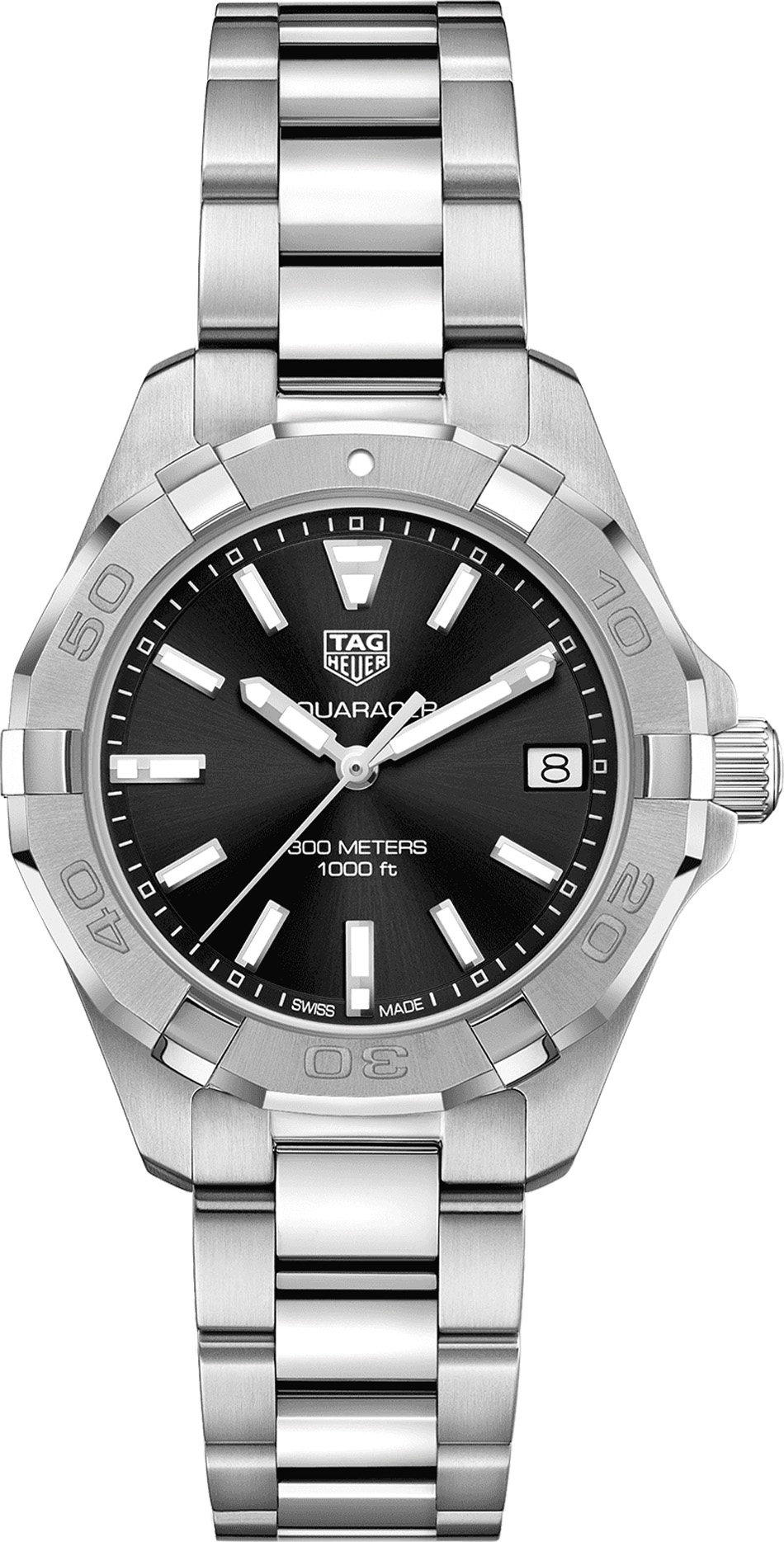 Tag Heuer Aquaracer Black Dial Steel Women's Watch WBD1310.BA0740
