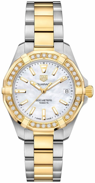 Tag Heuer Aquaracer Diamond and Gold Women's Luxury Watch WBD1321.BB0320