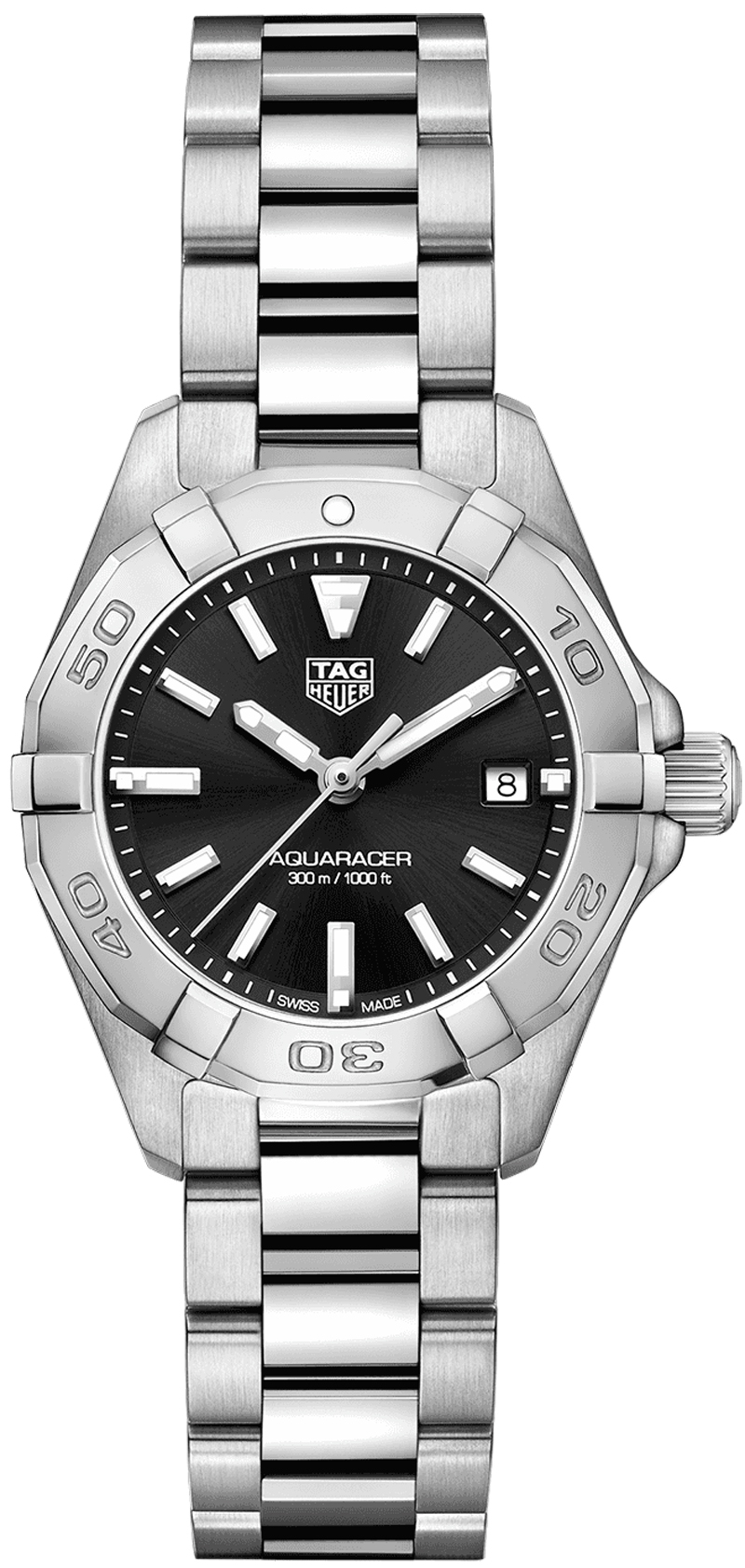 Tag Heuer Aquaracer 27mm Black Dial Steel Women's Watch WBD1410.BA0741