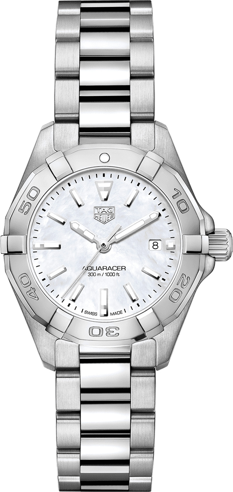 Tag Heuer Aquaracer Mother of Pearl Dial 27mm Women's Watch WBD1411.BA0741