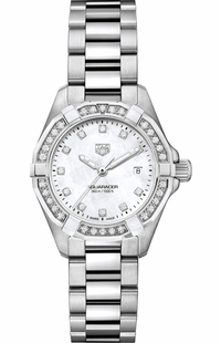 Tag Heuer Aquaracer White Mother of Pearl Diamond Women's Watch WBD1415.BA0741