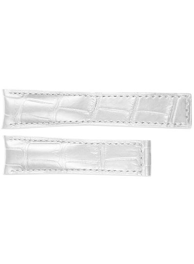 Tag Heuer Carrera 18mm Inlet White Leather OEM Watch Strap FC6264