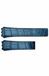 Tag Heuer Carrera 21mm Inlet Blue Leather & Black Rubber OEM Watch Strap FC6406