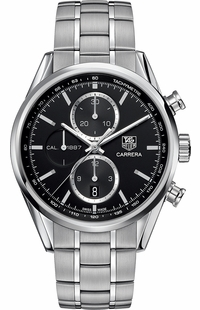 Tag Heuer Carrera Black Dial Stainless Steel Men's Watch CAR2110.BA0720
