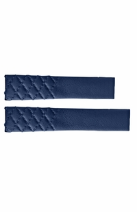 Tag Heuer Carrera Blue Leather OEM Watch Strap with Quilted Pattern FC6391