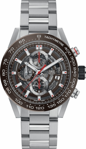 Tag Heuer Carrera Brown Dial Chronograph Men's Watch CAR201U.BA0766