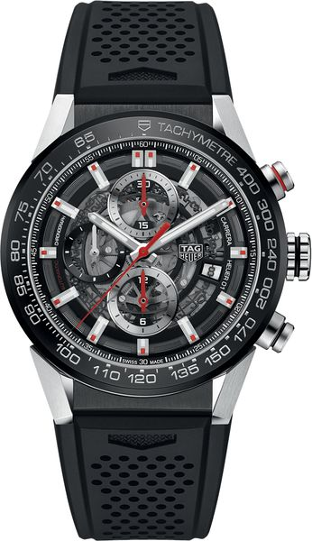 Tag Heuer Carrera Black Dial Automatic Chronograph Men's Watch CAR201V.FT6046