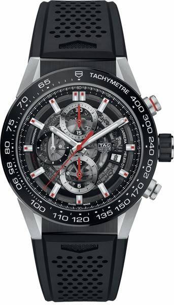 Tag Heuer Carrera Skeleton Black Dial Automatic Men's Watch CAR201V.FT6087