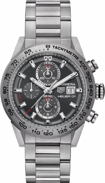 Tag Heuer Carrera Sunray Grey Dial Automatic Men's Watch CAR208Z.BF0719