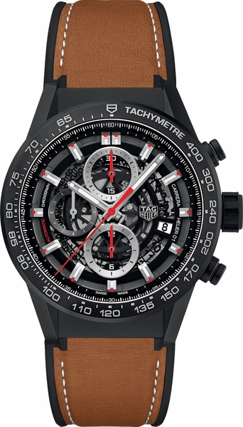 Tag Heuer Carrera Chronograph Black Dial Men's Luxury Watch CAR2090.FT6124