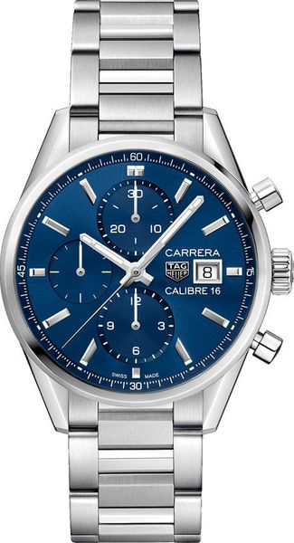 Tag Heuer Carrera Automatic Blue Dial Men's Watch CBK2112.BA0715