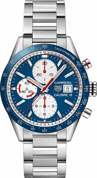Tag Heuer Carrera 41mm Chronograph Men's Watch CV201AR.BA0715