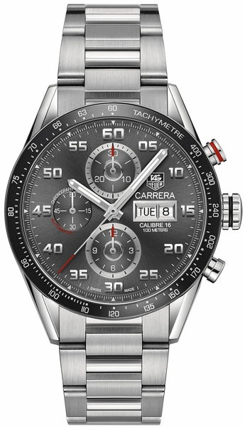 Tag Heuer Carrera Chronograph Anthracite Dial Men's Watch CV2A1U.BA0738