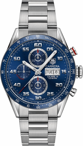 Tag Heuer Carrera Chronograph Blue Dial Men's Watch CV2A1V.BA0738
