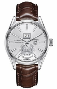 Tag Heuer Carrera GMT Silver Dial Men's Luxury Watch WAR5011.FC6291