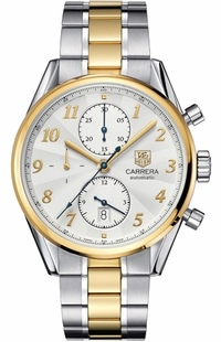 Tag Heuer Carrera Heritage Yellow Gold & Stainless Men's Luxury Watch CAS2150.BD0731