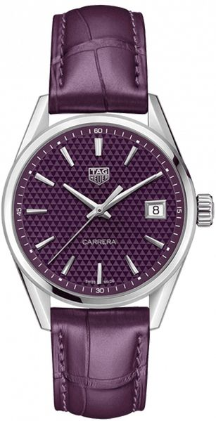 TAG Heuer Carrera Quartz Women's Purple Watch WBK1314.FC8261