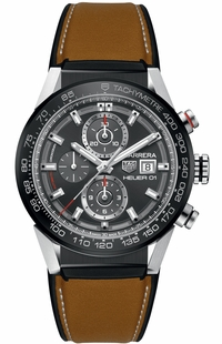 Tag Heuer Carrera Grey Dial Chronograph Men's Watch CAR201W.FT6122