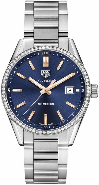 Tag Heuer Carrera Blue Dial Diamond Women's Watch WAR1114.BA0601