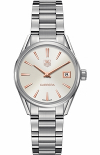 Tag Heuer Carrera Silver Dial Luxury Women's Watch WAR1312.BA0778