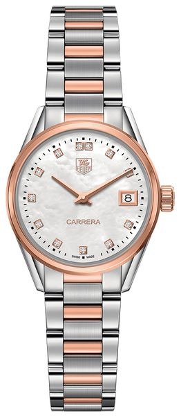 Tag Heuer Carrera Pearl White Diamond Dial Women's Luxury Watch WAR1352.BD0779